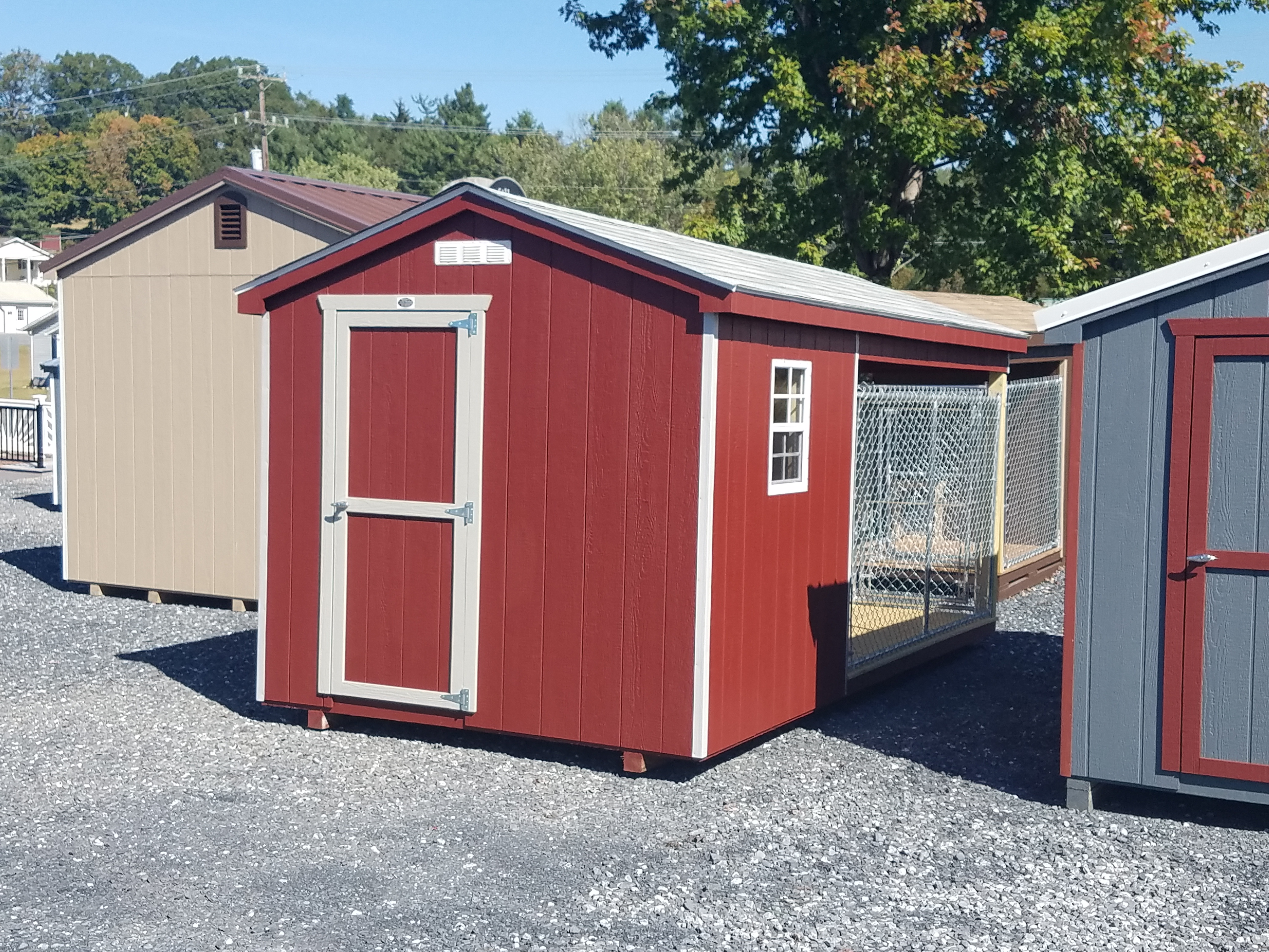 (Building #018) 8×16 Dog Kennel