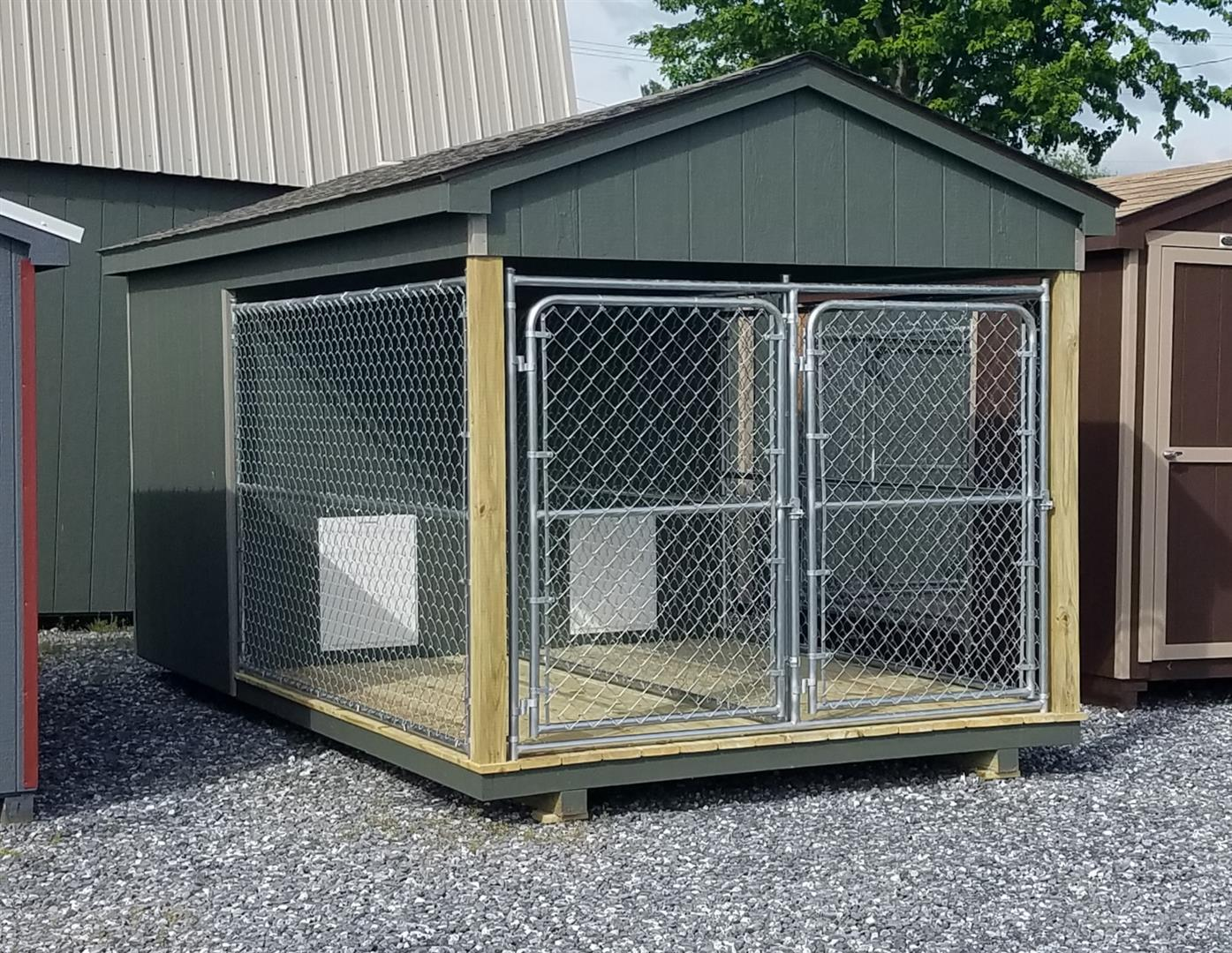 (Building #055) 8×16 Dog Kennel