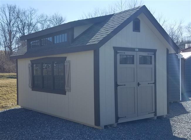 (Building #011) 10×16 Williamsburg Dormer