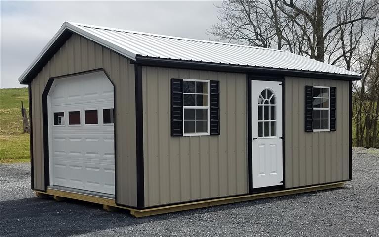 (Building #019) 12×20 Metal Garage