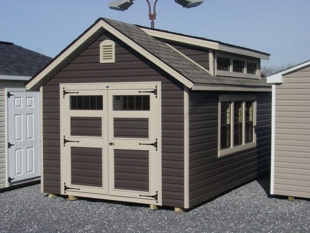 (Building #004) 10×16 Vinyl Williamsburg Dormer