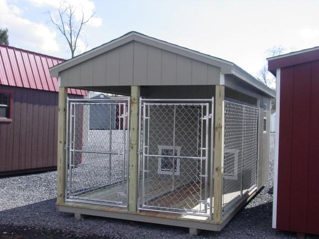 (Building #030) 8×16 Dog Kennel